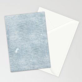 distressed chambray denim Stationery Cards