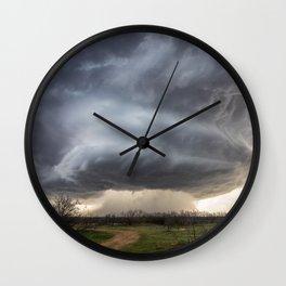 Attitude - Massive Storm Rumbles Over Plains of Texas Panhandle Wall Clock