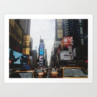 broadway Art Prints featuring Broadway  by Michael Dameron