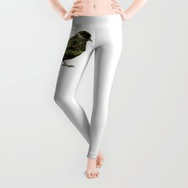 olive tree sparrow Leggings