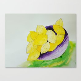 Lemon Bowl Canvas Print