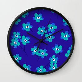 Forget-me-nots - Blue Wall Clock