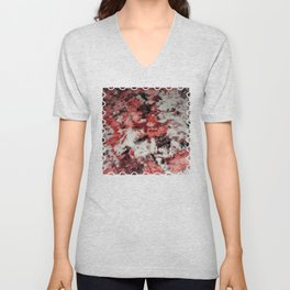 The Faces in the Ruby Red Snow Unisex V-Neck