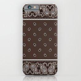 Classic Coffee Brown Bandana iPhone Case