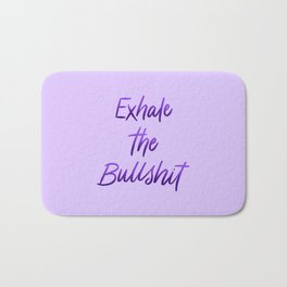 Exhale the BS Yoga Lettering Bath Mat