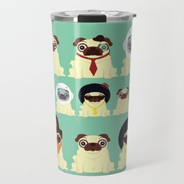 Pug pattern Travel Mug