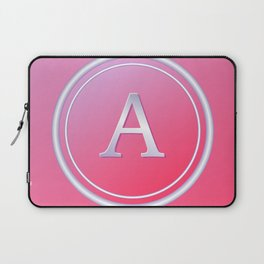 Silver and Pink Monogram - A Laptop Sleeve