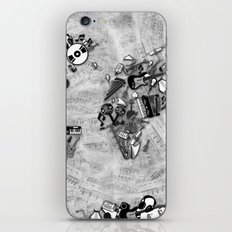 world map music black and white iPhone & iPod Skin