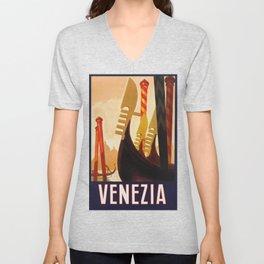 Venezia Italia ~ Venice Italy Travel Unisex V-Neck