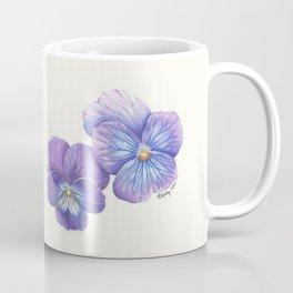Purple Pansies Coffee Mug