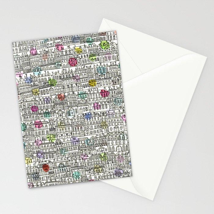 Parisian Cityscape Stationery Cards