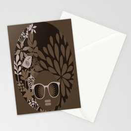 Afro Diva : Brown Sophisticated Lady Stationery Cards
