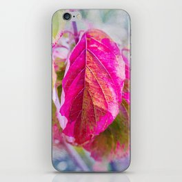 PINK LEAF iPhone Skin