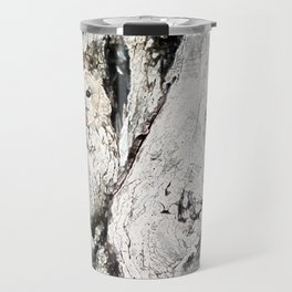 Watercolor Gray Owl Travel Mug