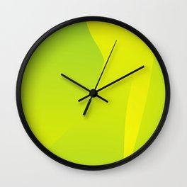 Green Tones of Luck Wall Clock