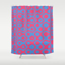 Brain Coral Red - Coral Reef Series 024 Shower Curtain