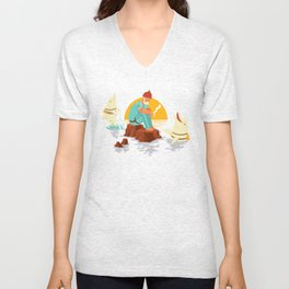 Sonnofabitch, I'm sick of these dolphins Unisex V-Neck