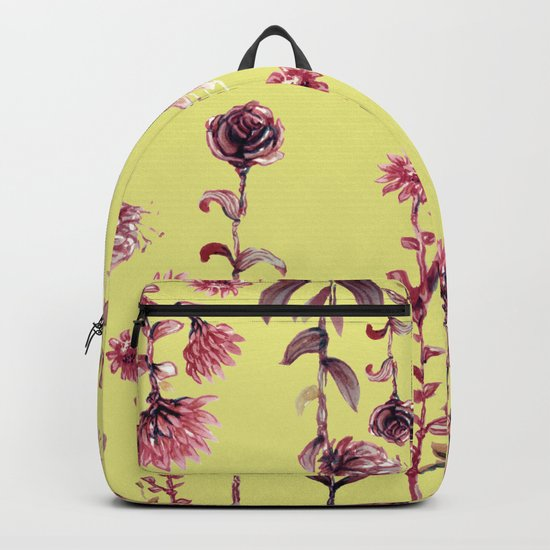 yellow back, pink nature Backpack