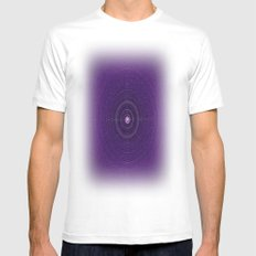 Space Bass White Mens Fitted Tee MEDIUM