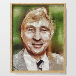John Updike, Author Serving Tray