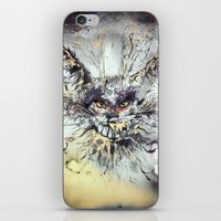 cheshire cat iPhone & iPod Skins featuring Cheshire  by Katerina Chivil