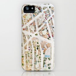 Greenwich Village Map by Harlem Sketches iPhone Case