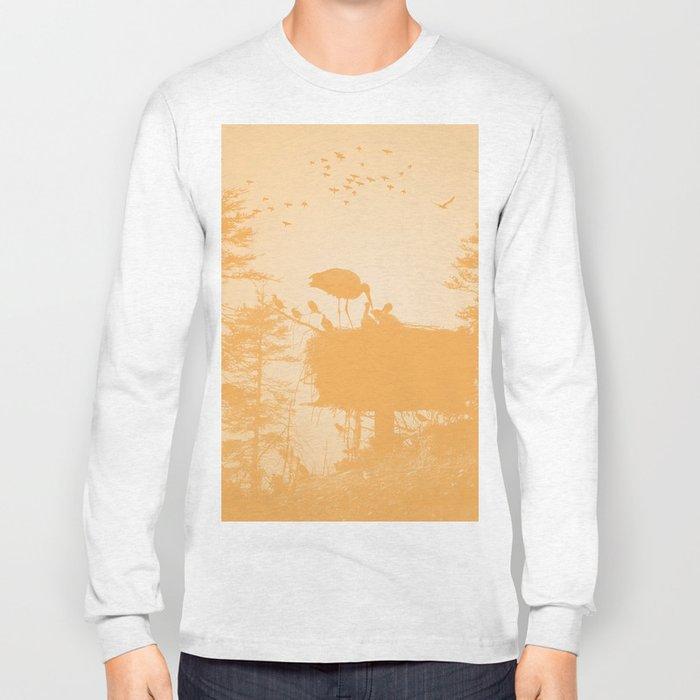 Stork Long Sleeve T-shirt