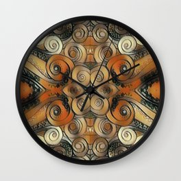 Coiled Metals Wall Clock