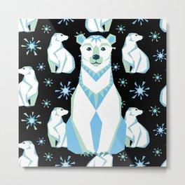 Arctic Bears Metal Print