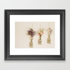 hanging flowers Framed Art Print