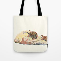 The Tortoise on a Rock Tote Bag