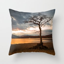 Bonny Banks Sunset Throw Pillow