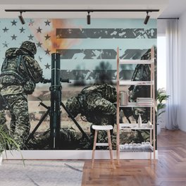 Mortar Fire Wall Mural
