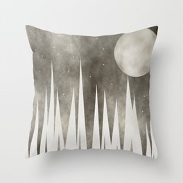 Moonlight And The Stars Throw Pillow