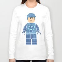 tron Long Sleeve T-shirts featuring Tron Lego by Ant Atomic