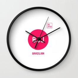 My Favorite Sport is Brazilian Jiu-Jitsu Fun BJJ MMA Wall Clock