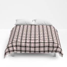 Small Pastel Pink Weave Comforters