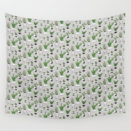 Cactus Love (in gray) Wall Tapestry