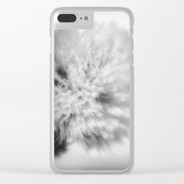 Sign of Winter a sow thistle weed covered in frost Clear iPhone Case