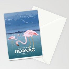 Lefkada, Flamingos at the lagoon (GR) Stationery Cards