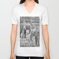 african V-neck T-shirts featuring African Spirit by LebensART