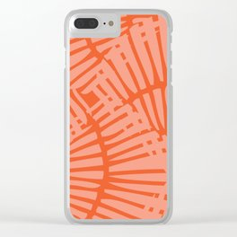 Basketweave-Persimmon Clear iPhone Case