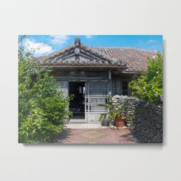 Traditional house in Okinawa Metal Print