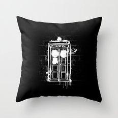 Time Lord Graffiti  Throw Pillow