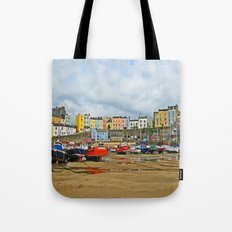 Tenby Harbour . Sunlight. Pembrokeshire. Wales. Tote Bag