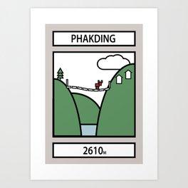 Phakding Art Print