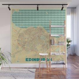 Edinburgh Map Retro Wall Mural