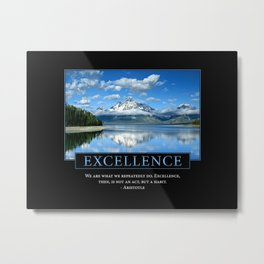 Excellence Poster: Aristotle Quote Metal Print