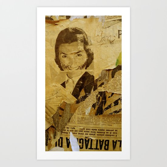 The bearded woman Art Print
