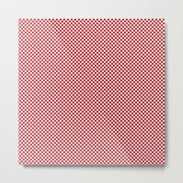 Valiant Red and White Mini Check 2018 Color Trends Metal Print